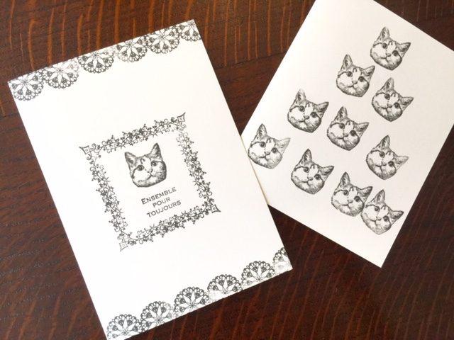 gobeゴービースタンプで猫柄手作りカード第二弾