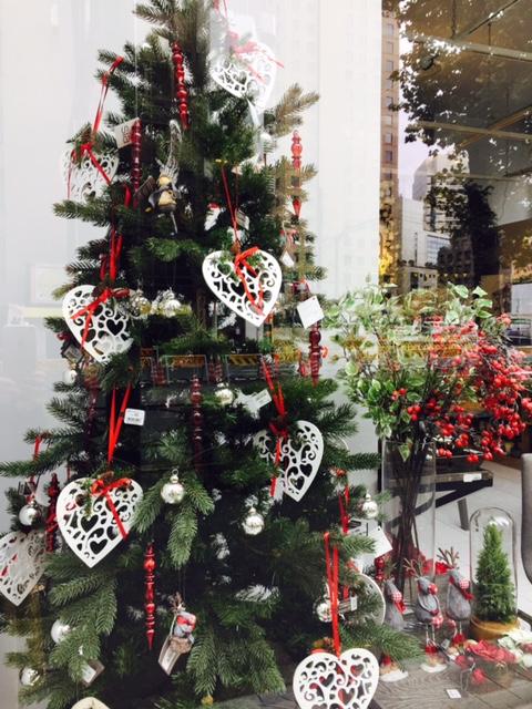 sia(シア)虎ノ門本店のクリスマスディスプレイは繊細なヨーロッパの香り