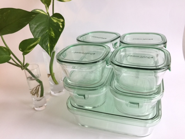 【Iwakiイワキ】の耐熱ガラス容器 玉ねぎスライスを入れても匂い移りの心配なし