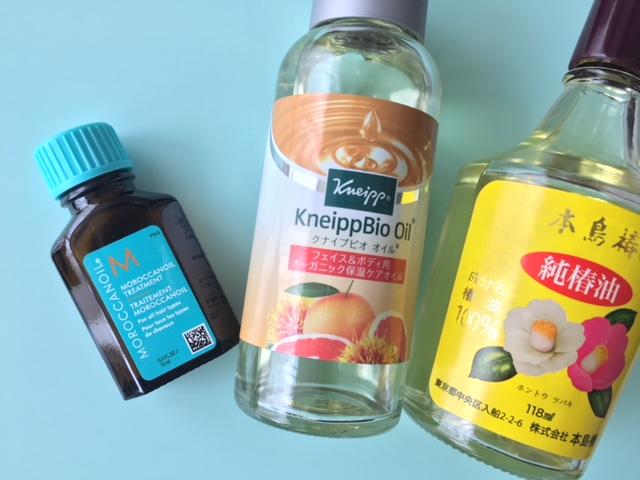 最愛ヘアオイルの選び方♪モロッカンオイルVSクナイプビオオイルVS椿油