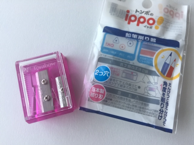 色鉛筆削り器 トンボのippo!(イッポ)おすすめです。